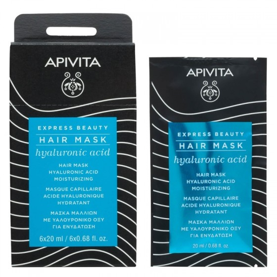 APIVITA EXPRESS BEAUTY Moisturizing Hair Mask with Hyaluronic Acid, 20ml