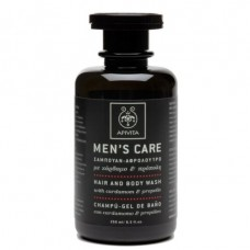 APIVITA MENS CARE Hair & Body Wash with Cardamom & Propolis, 250ml