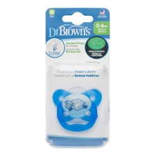 PreVent Glow in the Dark BUTTERFLY SHIELD Pacifier - Stage 1 * 0-6M - Blue, 1-Pack