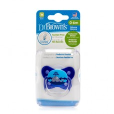 PreVent BUTTERFLY SHIELD Pacifier - Stage 1 * 0-6M - Blue, 1-Pack