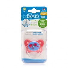 PreVent BUTTERFLY SHIELD Pacifier - Stage 2 * 6-12M - Pink, 1-Pack