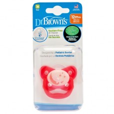 PreVent Glow in the Dark BUTTERFLY SHIELD Pacifier - Stage 3 * 12M+ - Pink, 1-Pack