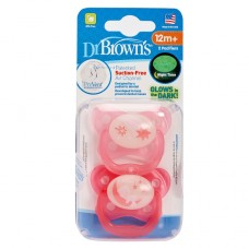 PreVent Glow in the Dark BUTTERFLY SHIELD Pacifier, Stage 3 * 12+M - Assorted, 2-Pack
