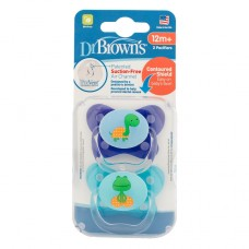 PreVent BUTTERFLY SHIELD Pacifier, Stage 3 * 12M+ - Assorted, 2-Pack