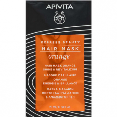 APIVITA EXPRESS BEAUTY Shine & Revitalizing Hair Mask with Orange, 20ml