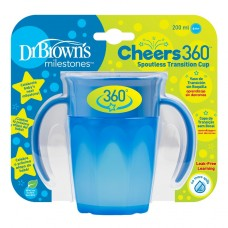 Gertuvė Dr. Brown's CHEERS 360 (nuo 6 mėn.) 200ml, mėlyna